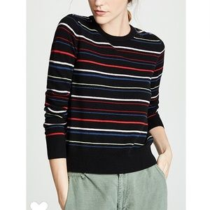 EQUIPMENT 100% Cashmere Shirley Striped Sweater